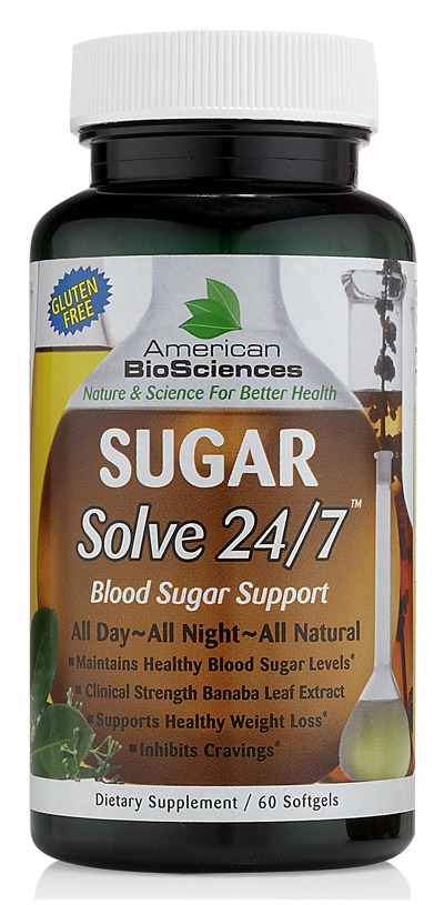 Sugar Solve 24/7 - 60 sgels by American Biosciences