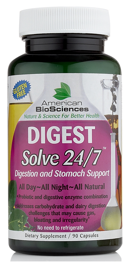 Digest Solve 24/7 - 90 caps by American Biosciences (expires 07/13)