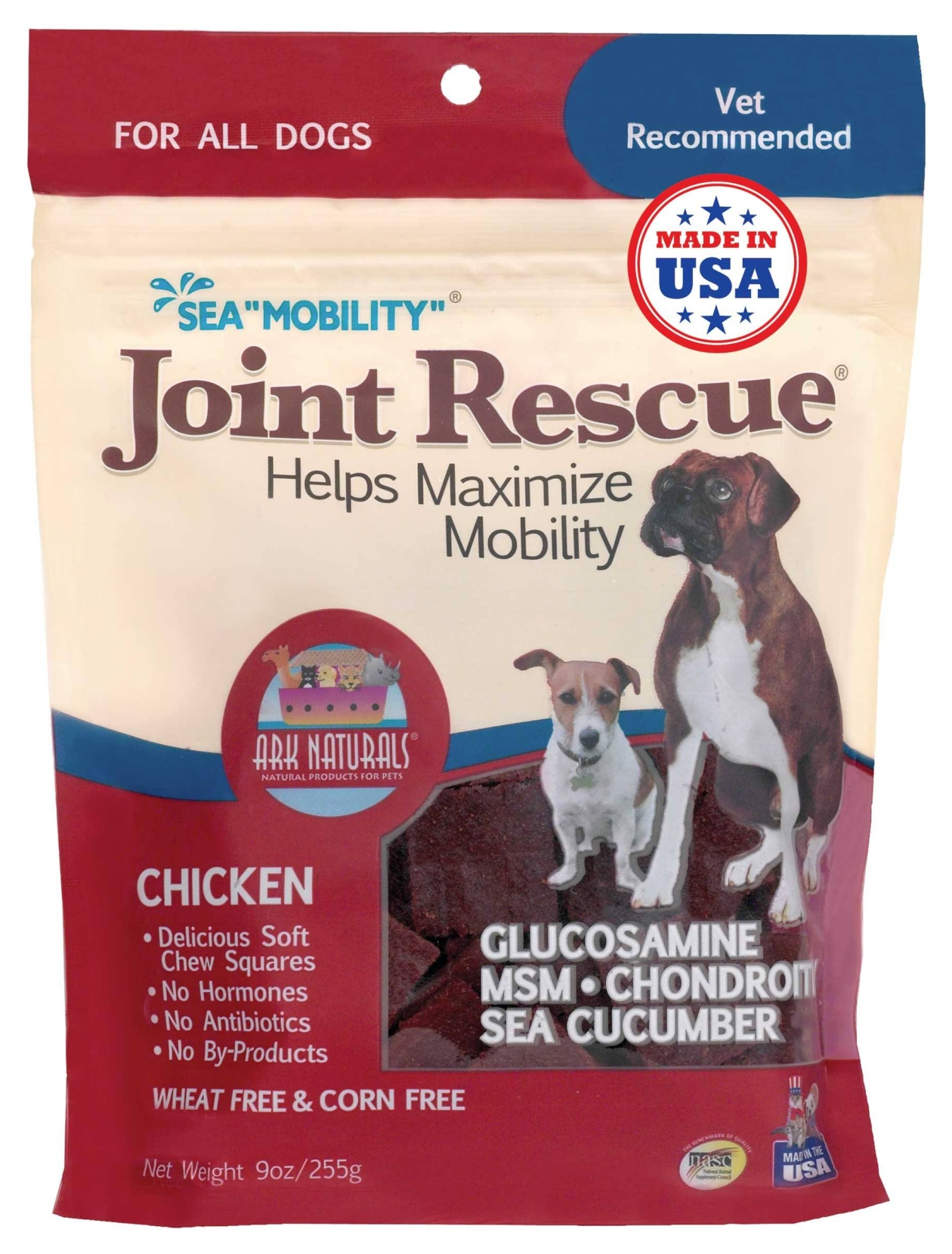 Sea Mobility Chicken Jerky 9 oz by Ark Naturals