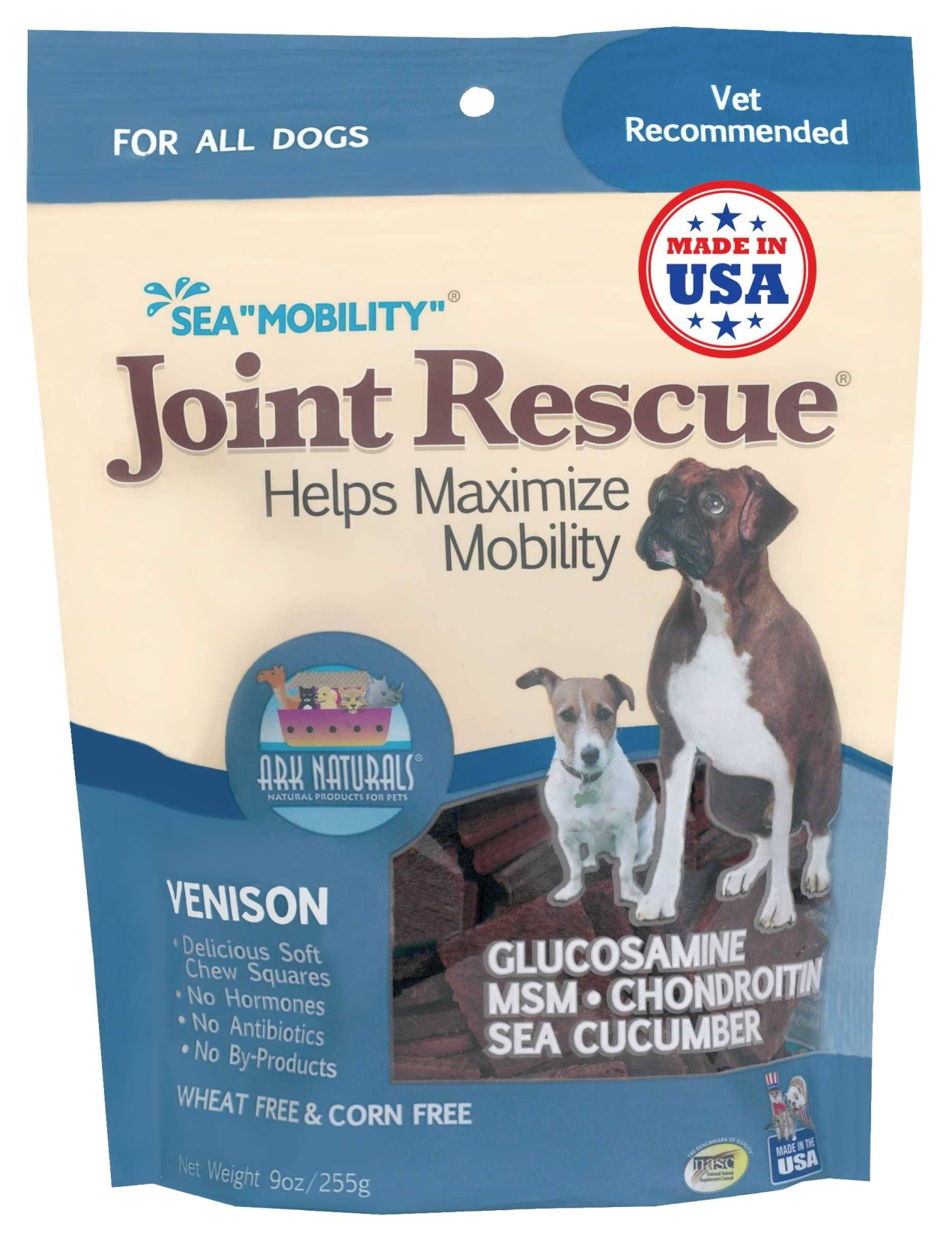 Sea Mobility Joint Rescue Venison 9 oz by Ark Naturals