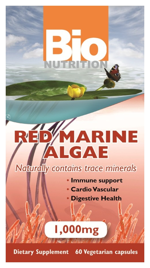 Red Marine Algae 1,000 mg 60 Vegetarian caps by Bio Nutrition