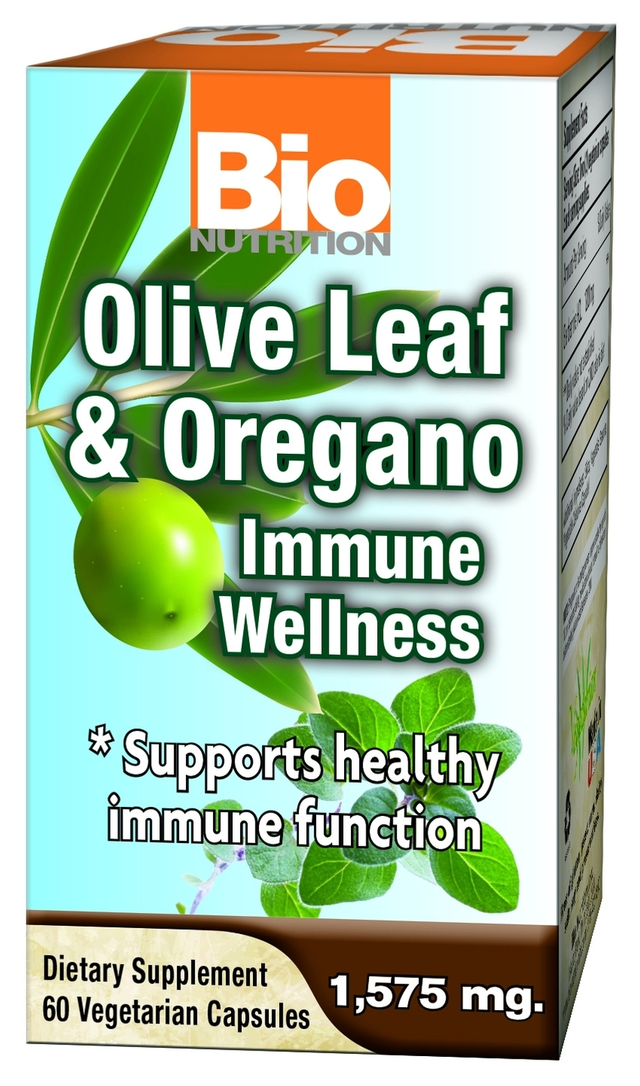 Olive Leaf & Oregano Immune Wellness 60 Vegetarian caps by Bio Nutrition