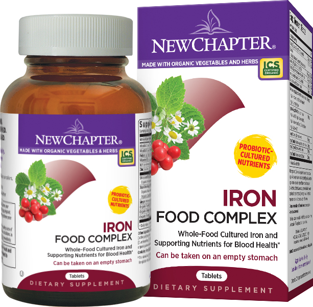Iron Food Complex (formerly Every Woman's Iron Support) 60 tabs by New Chapter