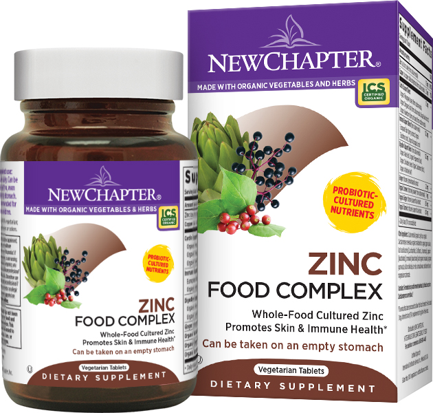 Zinc Food Complex 60 tabs by New Chapter