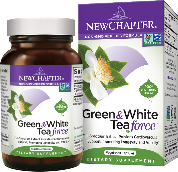 Green & White Tea Force 60 Vcaps by New Chapter