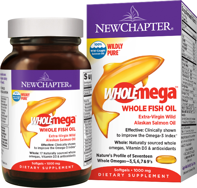 Wholemega 1000 mg 180 sgels by New Chapter