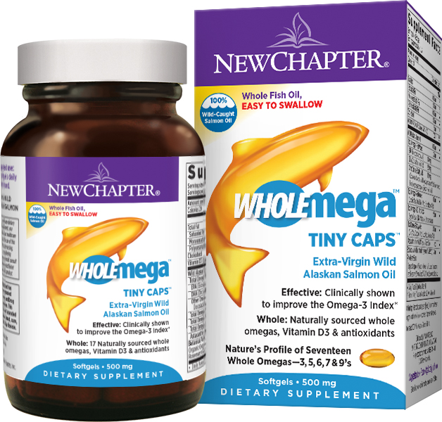 Wholemega 500 mg 90 sgels by New Chapter