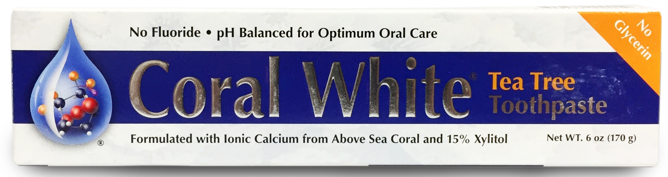 Coral White Tea Tree Toothpaste 6 oz (170 g) by Coral LLC