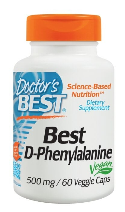 Best D-Phenylalanine 500 mg 60 Veggie Caps by Doctor's Best
