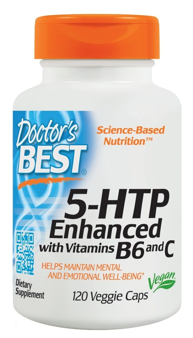 5-HTP Enhanced with Vitamins B6 and C 120 Veggie Caps by Doctor's Best