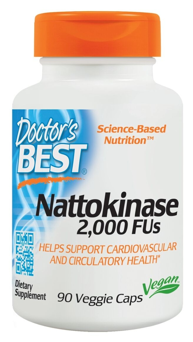 Best Nattokinase 2,000 FU 90 Veggie Caps by Doctor's Best