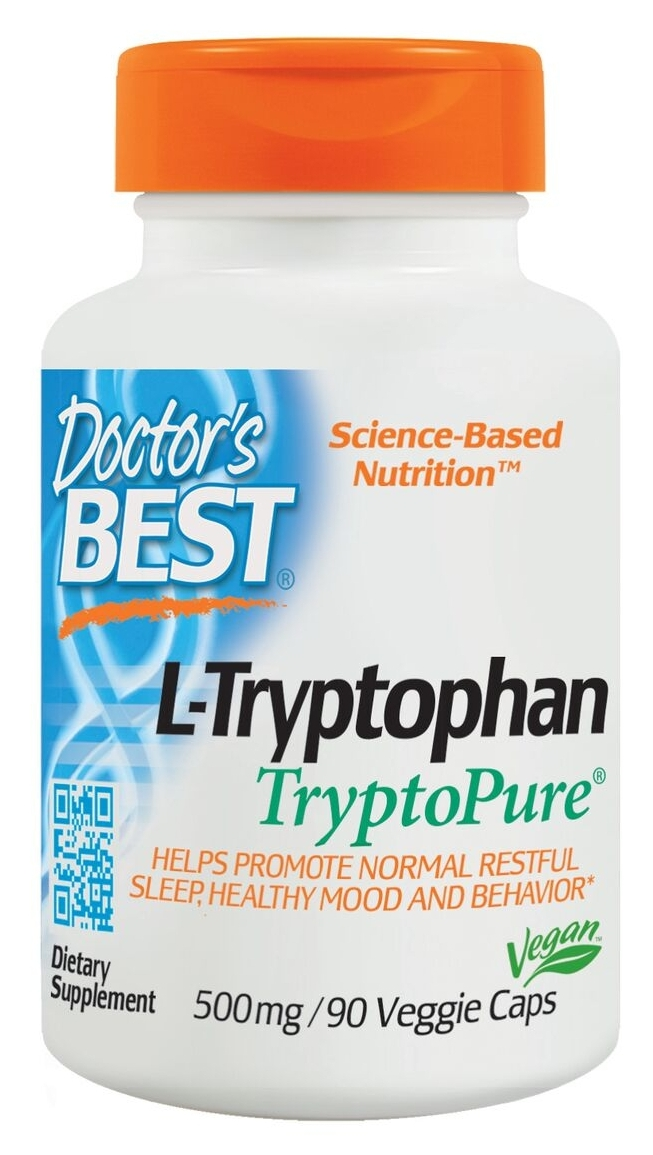 Best L-Tryptophan 500 mg 90 Veggie Caps by Doctor's Best