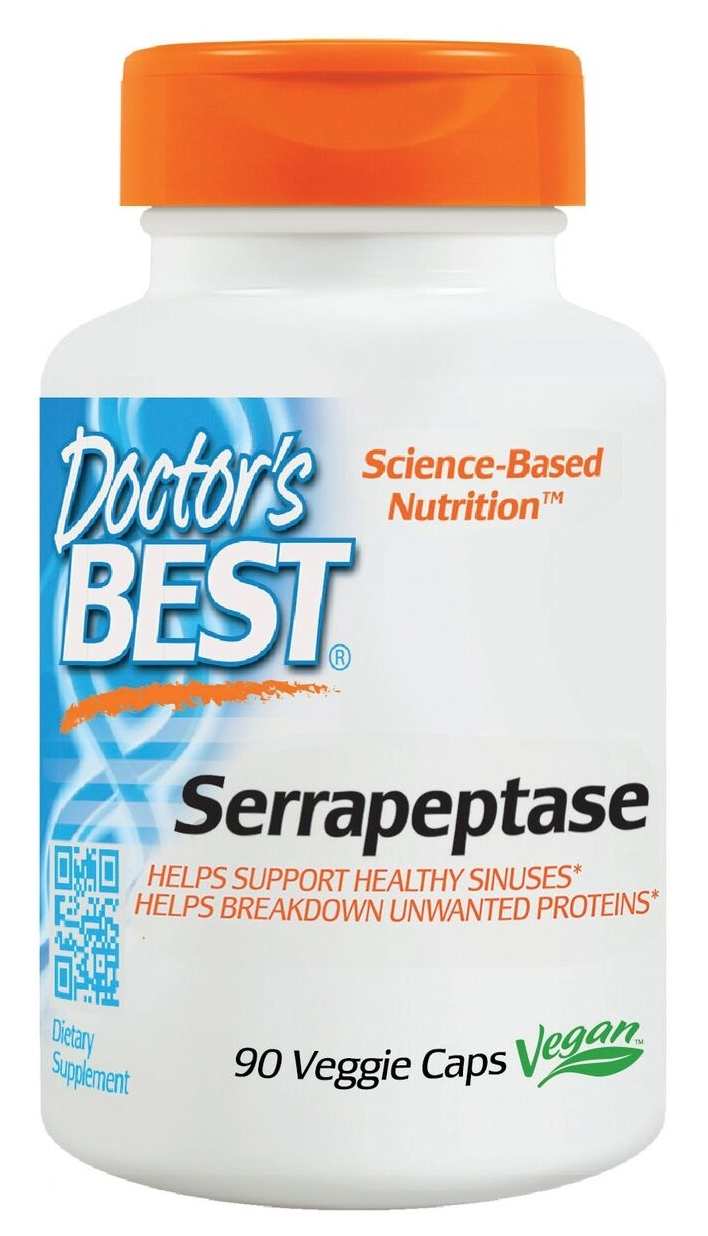 Best Serrapeptase 40,000 units 90 Veggie Caps by Doctor's Best