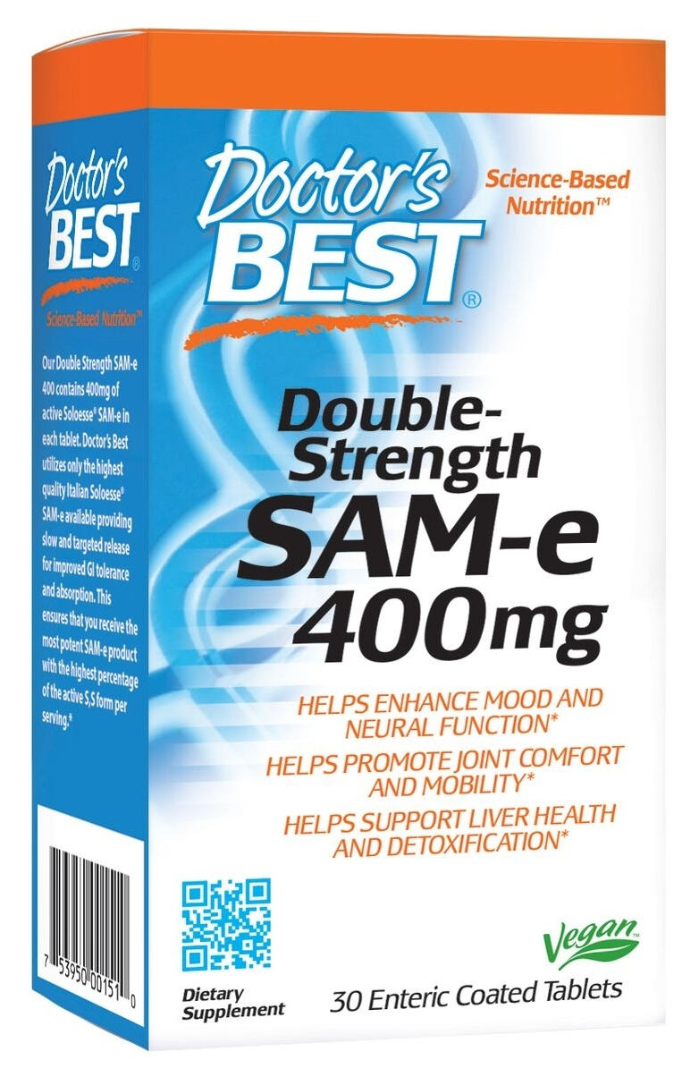 Double Strength SAMe 400 30 Enteric Coated Tabs by Doctor's Best