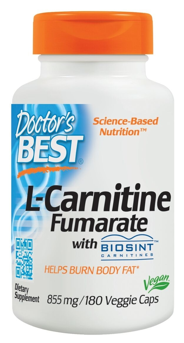 Best L-Carnitine Fumarate 855 mg 180 Veggie Caps by Doctor's Best