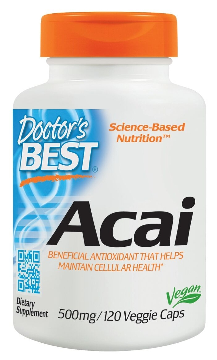 Best Acai 500 mg 120 Veggie Caps by Doctor's Best