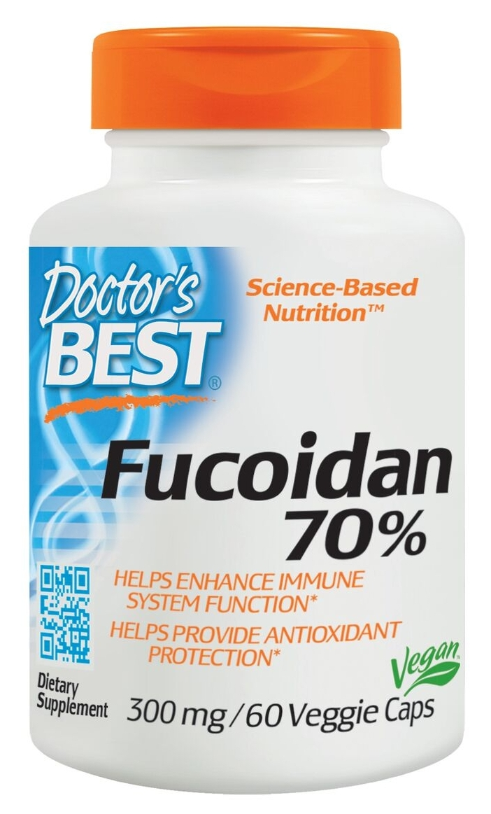 Best Fucoidan 70% 300 mg 60 Veggie Caps by Doctor's Best