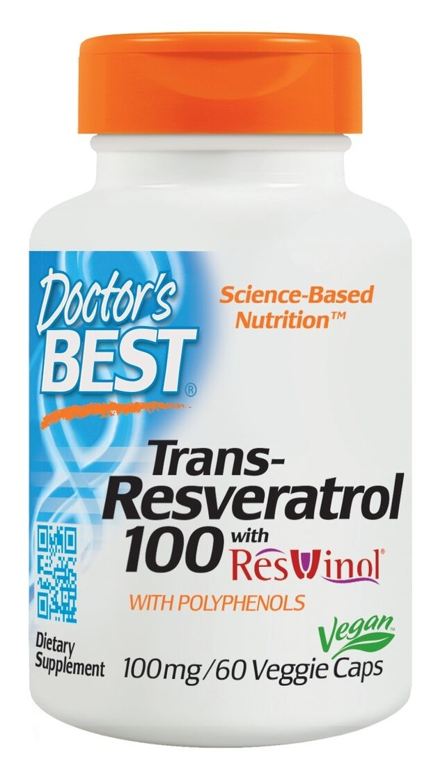 Best trans-Resveratrol featuring ResVinol-25 100 mg 60 Veg Caps by Doctor's Best