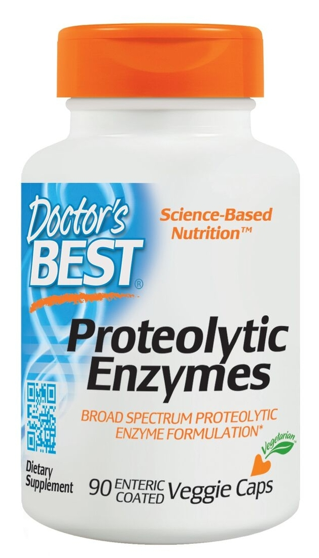 Best Proteolytic Enzymes 90 Veggie Caps by Doctor's Best