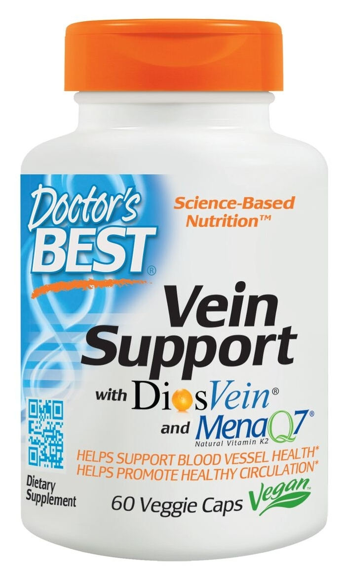 Best Vein Support with DiosVein 60 Veggie Caps by Doctor's Best