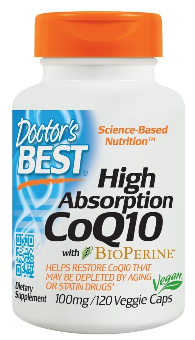 High Absorption CoQ10 100 mg 120 Veggie Caps by Doctor's Best