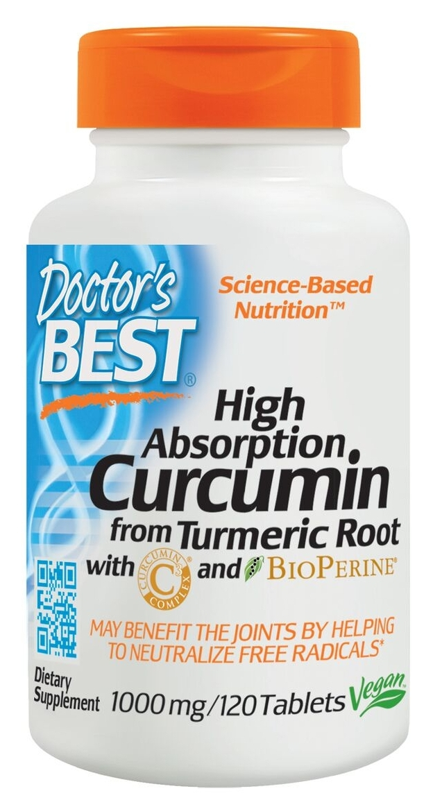 Best Curcumin C3 Complex w/ Bioperine 1000 mg 120 tabs by Doctor's Best