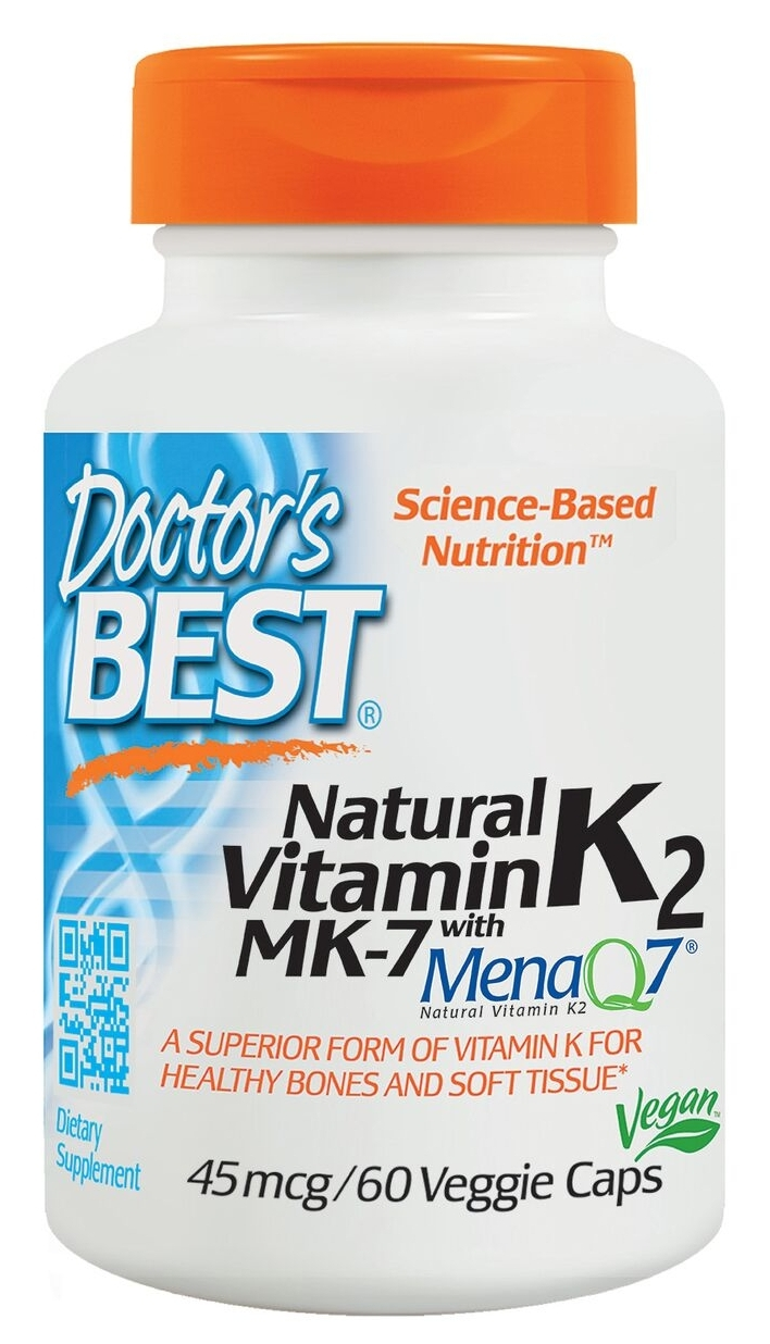 Natural Vitamin K2 45 mcg 60 Veggie Caps by Doctor's Best