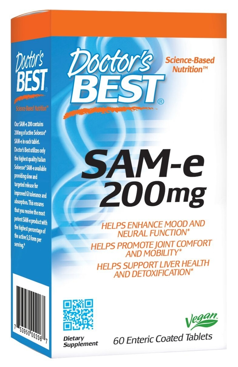 SAMe 200 60 Enteric Coated Tabs by Doctor's Best