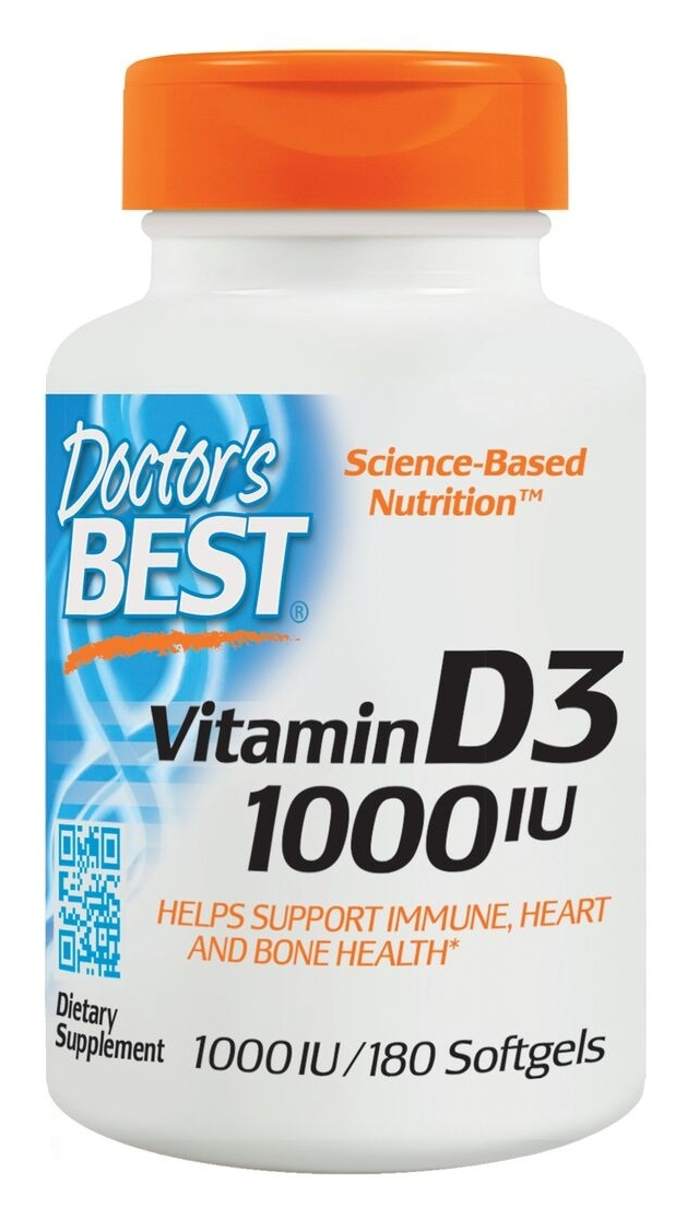 Best Vitamin D3 1000 IU 180 sgels by Doctor's Best