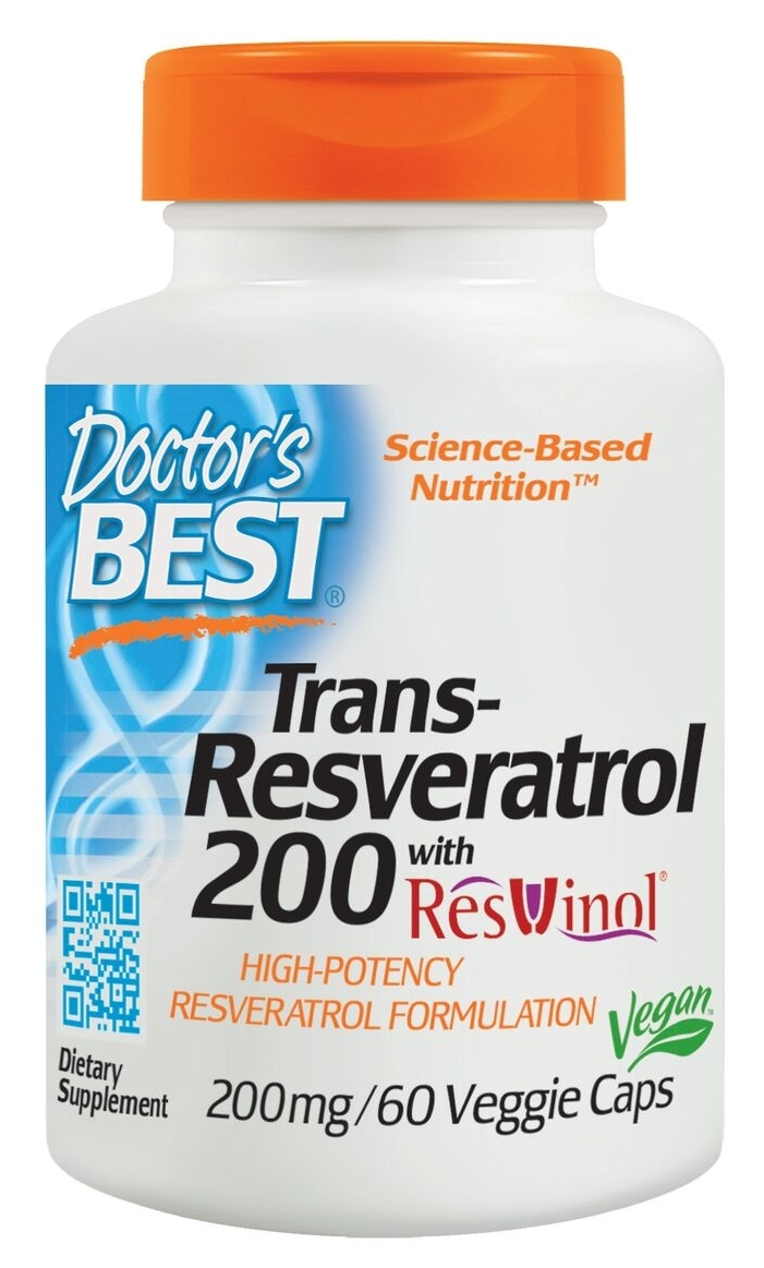 Best trans-Resveratrol 200 mg 60 Veggie Caps by Doctor's Best