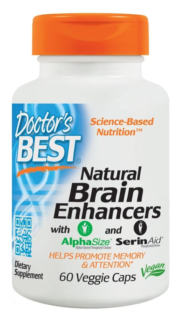 Natural Brain Enhancers Featuring GPC & PS 60 Veggie Caps by Doctor's Best