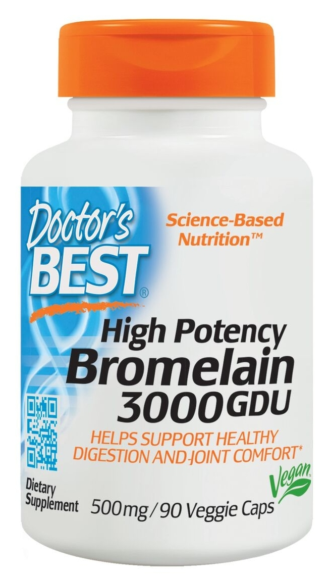 Best 3000 GDU Bromelain 500 mg 90 Veggie Caps by Doctor's Best