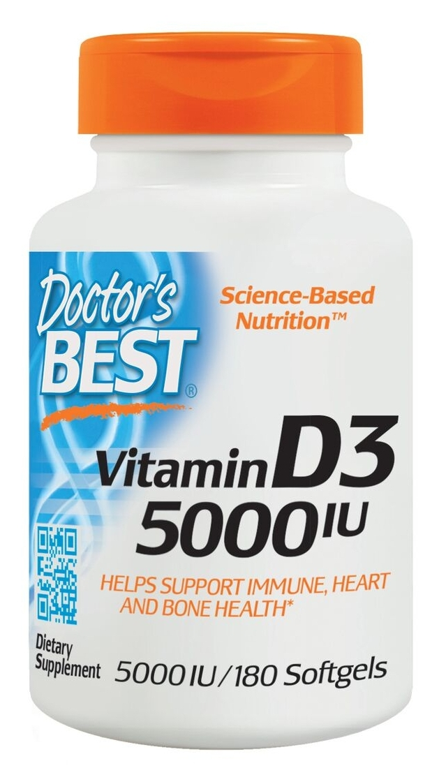 Best Vitamin D3 5000 IU 360 sgels by Doctor's Best