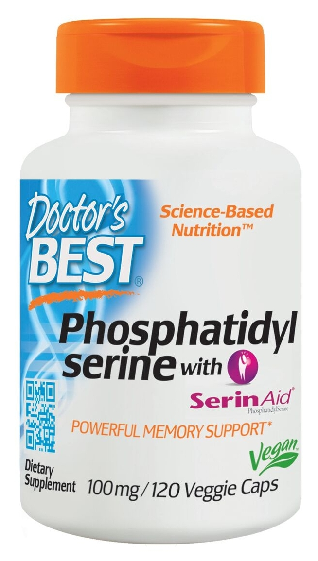 Best Phosphatidyl Serine 100 mg 120 Veggie Caps by Doctor's Best