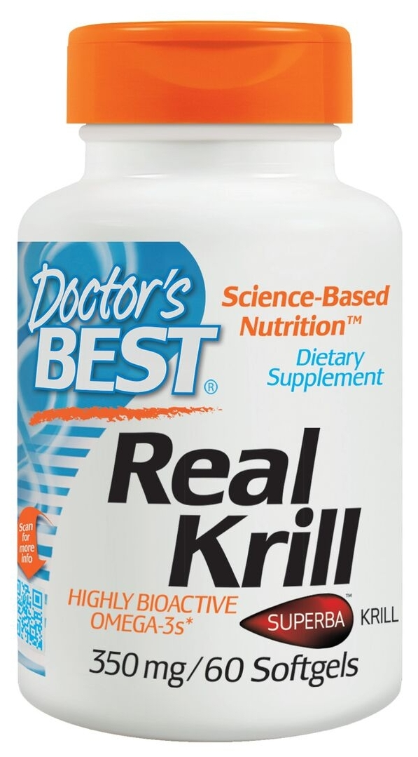Real Krill 350 mg 30 sgels by Doctor's Best (expires 05/2015)