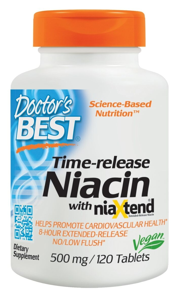 Real Niacin (as Nicotinic Acid) 500 mg 120 tabs by Doctor's Best