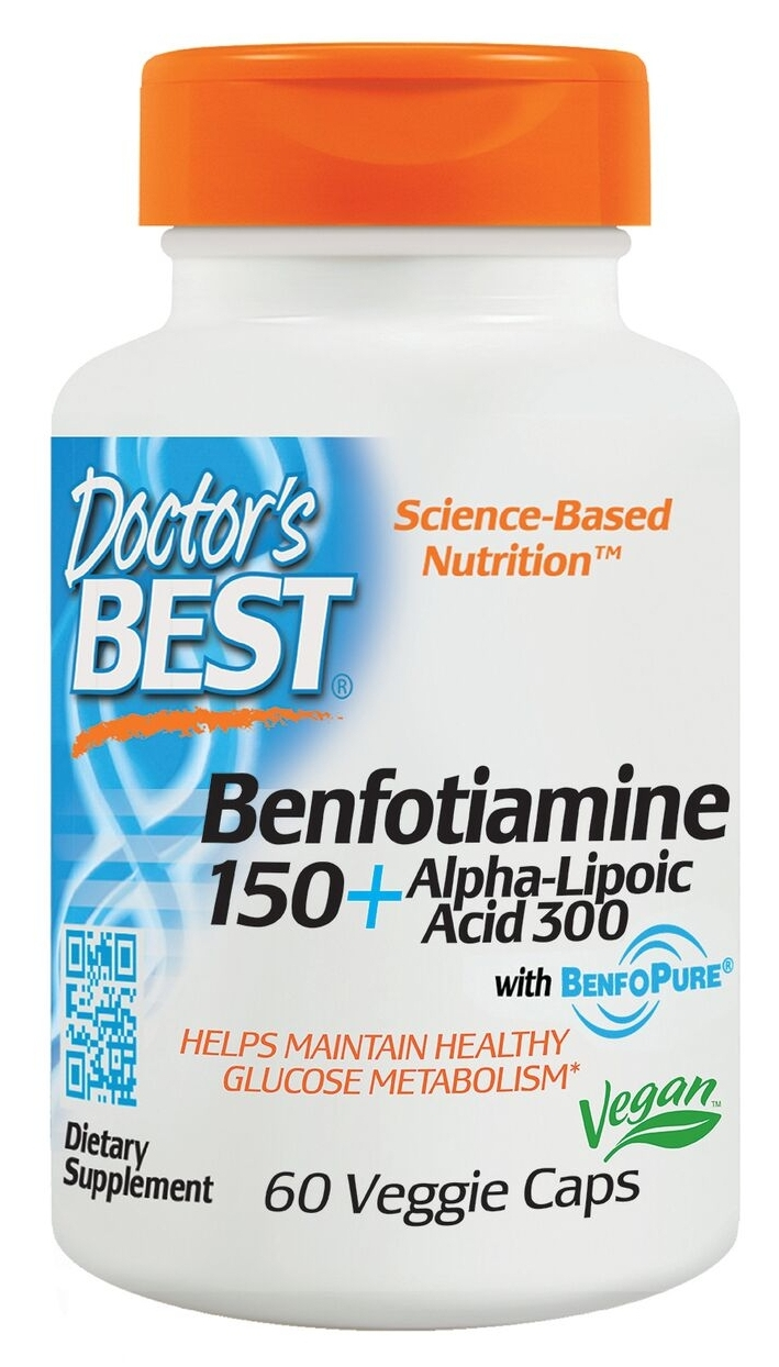 Best Benfotiamine 150 + Alpha Lipoic Acid 300 60 Veggie Caps by Doctor's Best