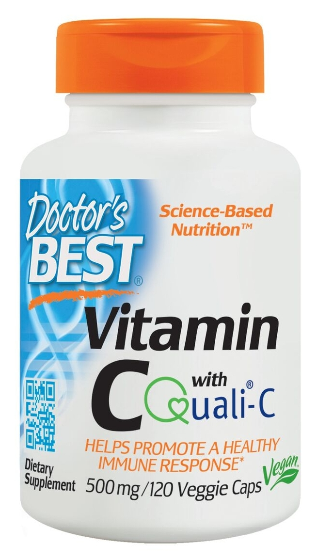 Best Vitamin C 500 mg 120 Veggie Caps by Doctor's Best