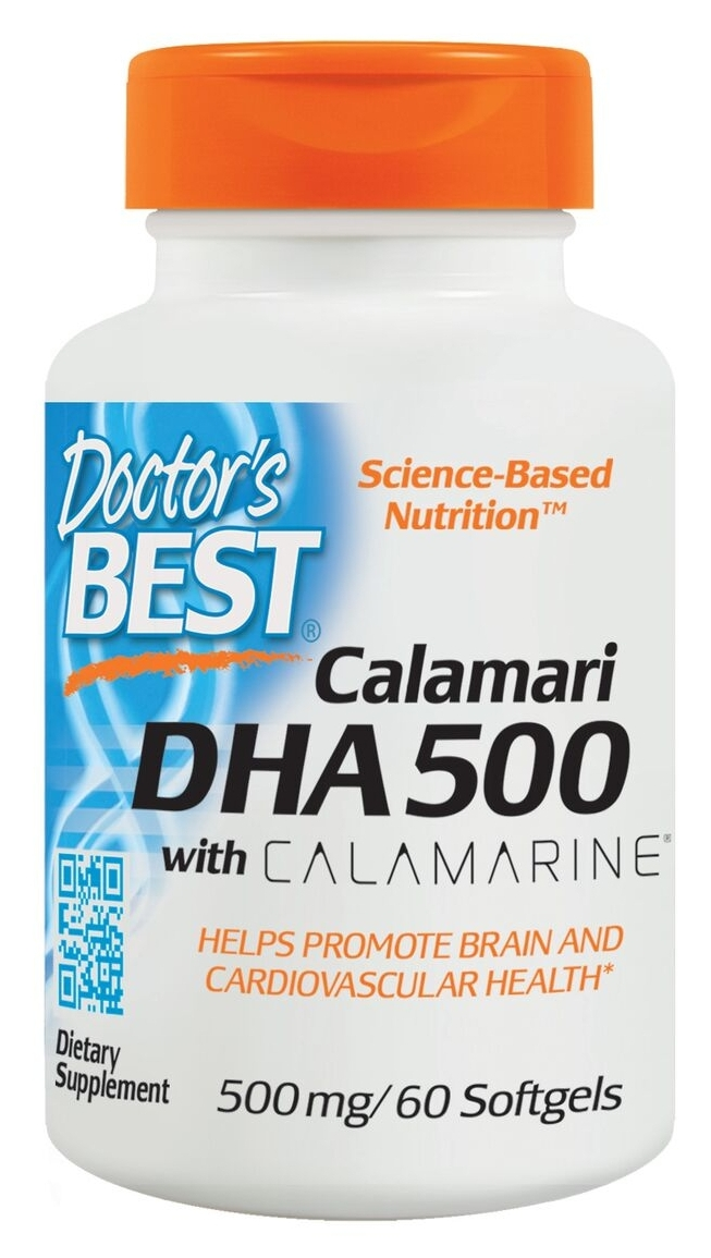 Best DHA 500 from Calamari 180 sgels by Doctor's Best