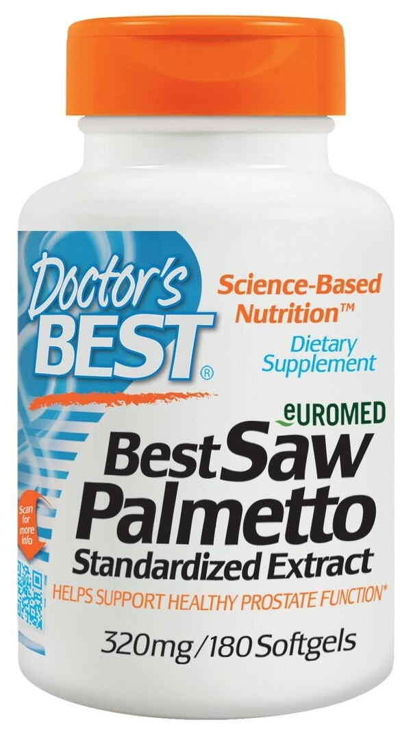 Best Saw Palmetto 320 mg 180 sgels by Doctor's Best