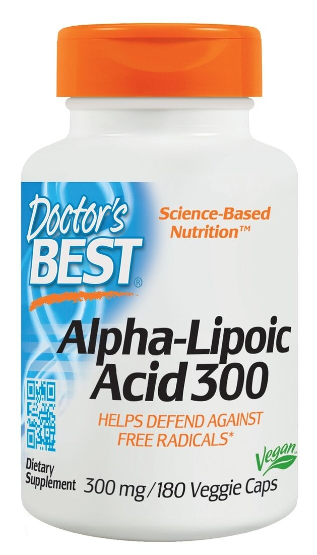 Best Alpha Lipoic Acid 300 mg 180 Veggie Caps by Doctor's Best