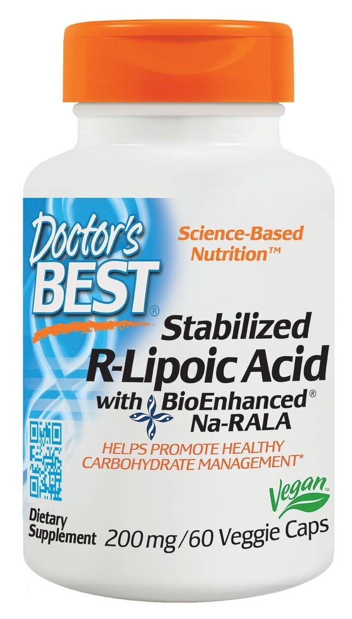 Best Stabilized R-Lipoic Acid 100 mg 180 Veggie Caps by Doctor's Best