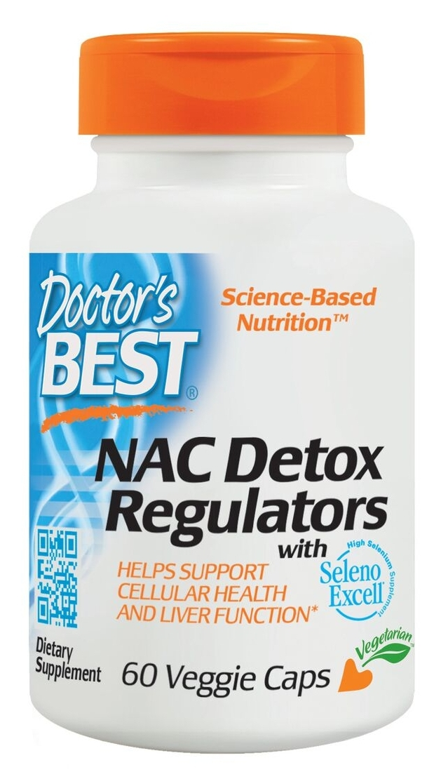 Best NAC Detox Regulators 60  Veggie Caps by Doctor's Best