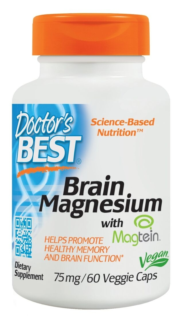 Best Brain Magnesium 75 mg 60 Veggie Caps by Doctor's Best