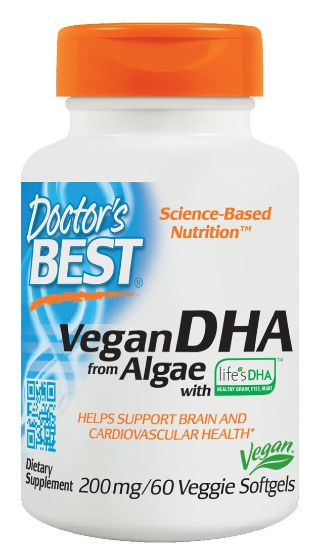 Best Vegetarian DHA from Algae 200 mg 60 Veggie sgels by Doctor's Best
