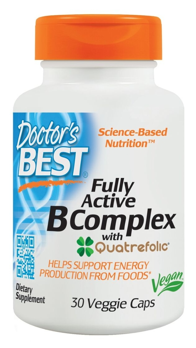 Best Fully Active B Complex 30 Veggie Caps by Doctor's Best