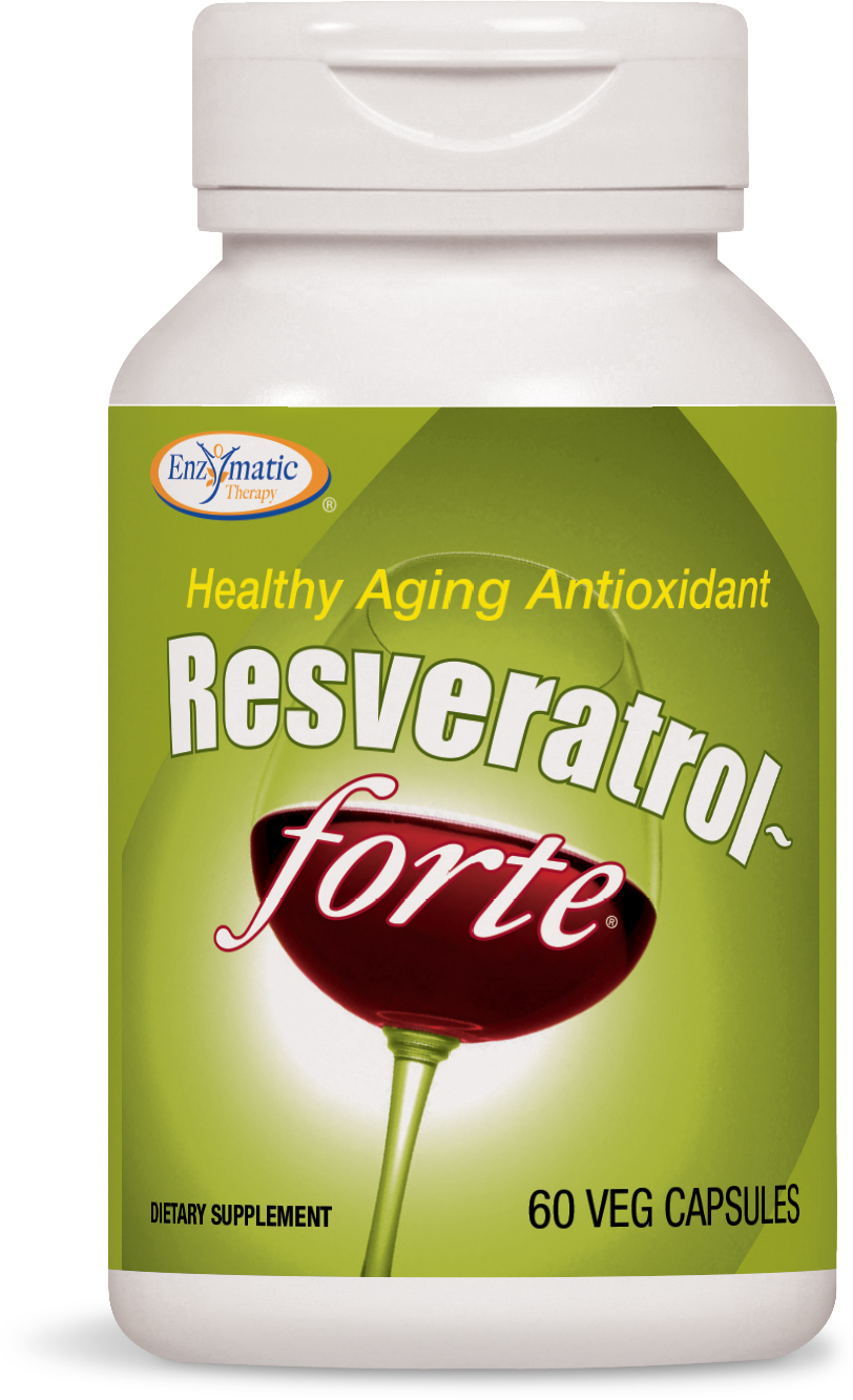 Resveratrol-Forte 60 Veg caps by Enzymatic Therapy
