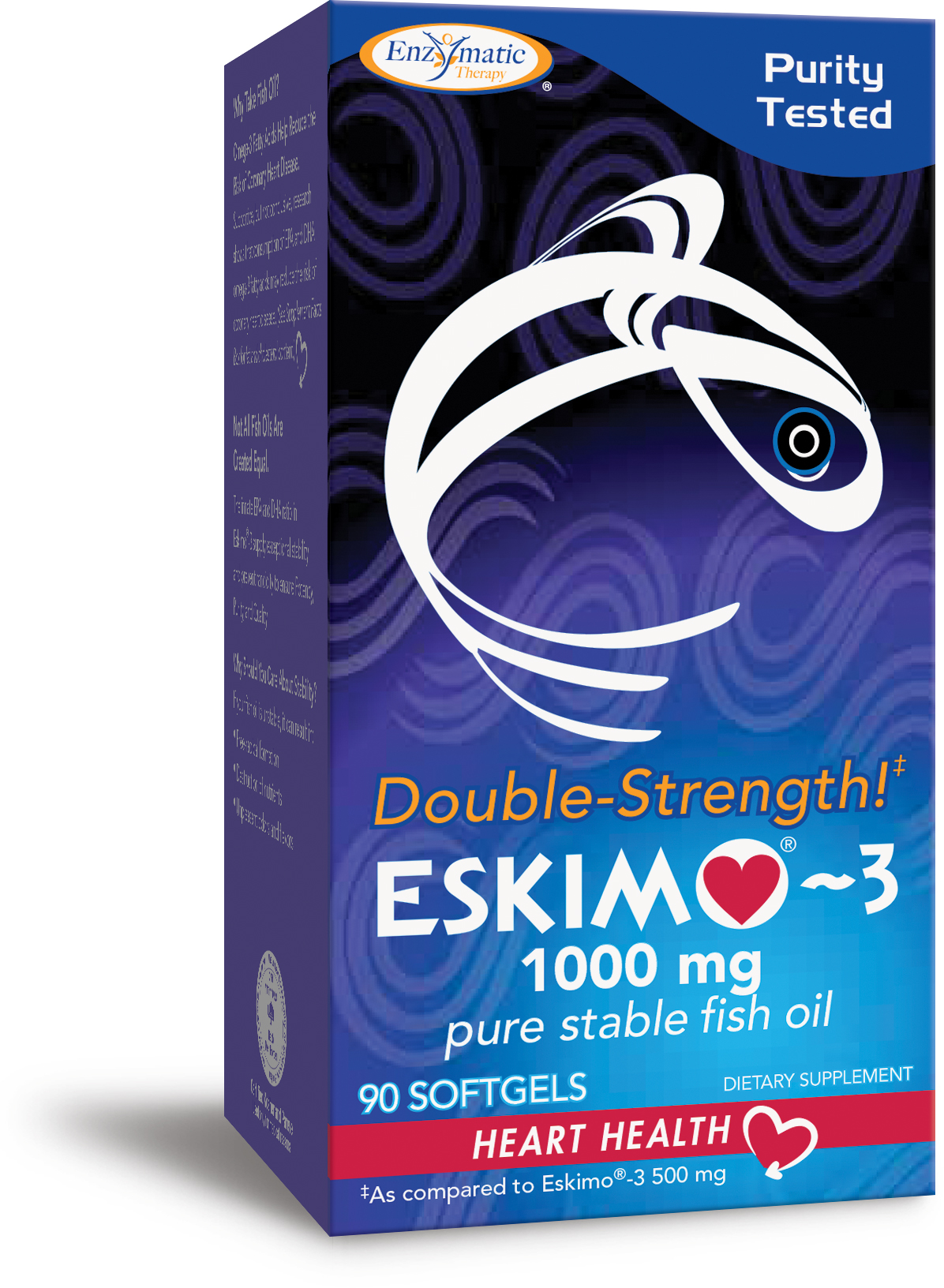 Eskimo-3 Omega-3 Fish Oil Double Strength 1000 mg 90 sgels by Enzymatic Therapy