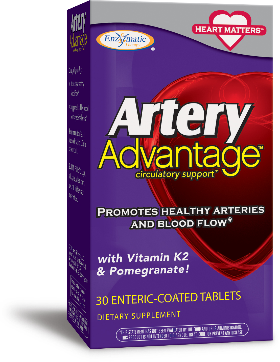 Artery Advantage 30 Enteric Coated tabs by Enzymatic Therapy