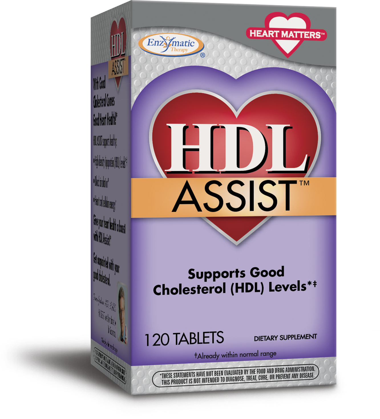 HDL Booster 120 tabs by Enzymatic Therapy